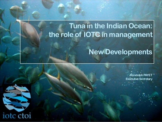 Tuna in the Indian Ocean:the role of IOTC in managementNew DevelopmentsRondolphPAYETExecutiveSecretary