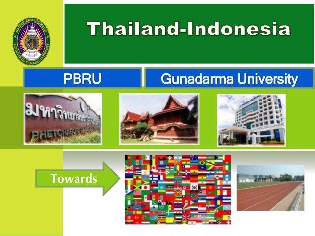Gunadarma University Towards PBRU