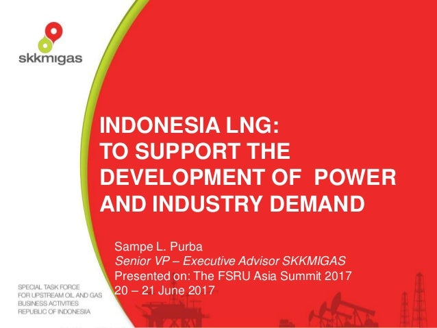 INDONESIA LNG: TO SUPPORT THE DEVELOPMENT OF POWER AND INDUSTRY DEMAND Sampe L. Purba Senior VP – Executive Advisor SKKMIG...
