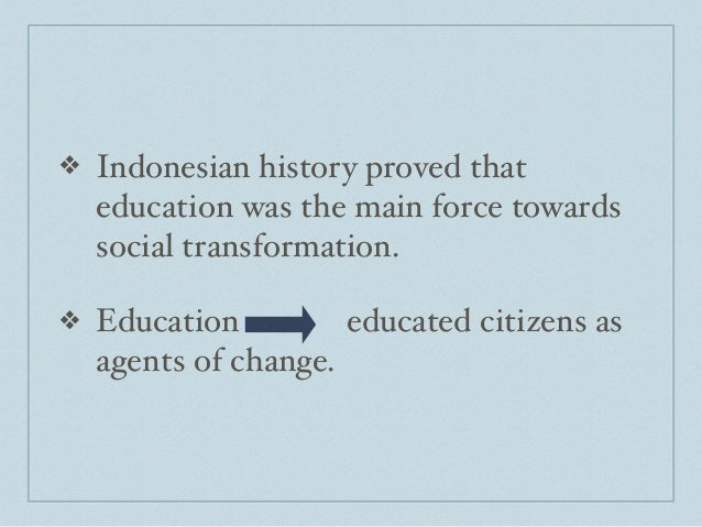 The problem of indonesian national education