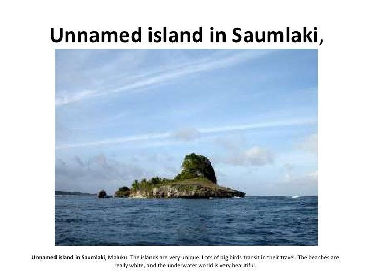 Unnamed island in Saumlaki,     Unnamed island in Saumlaki, Maluku. The islands are very unique. Lots of big birds transit...
