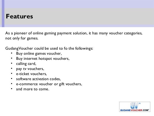 As a pioneer of online gaming payment solution, it has many voucher categories, not only for games. GudangVoucher could be...