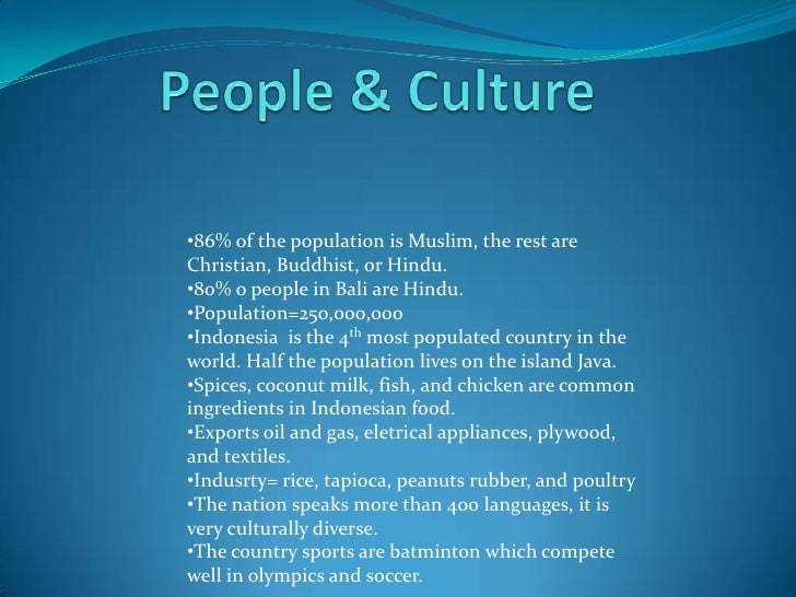 an introduction to the culture and geography of java island Island or maritime southeast asia includes malaysia, singapore, indonesia, the philippines, brunei, and the new nation of east timor (formerly part of indonesia) islam is the state religion in malaysia and brunei.