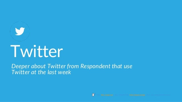 Twitter Deeper about Twitter from Respondent that use Twitter at the last week Web : http://jakpat.net – App ( Android/IOS...