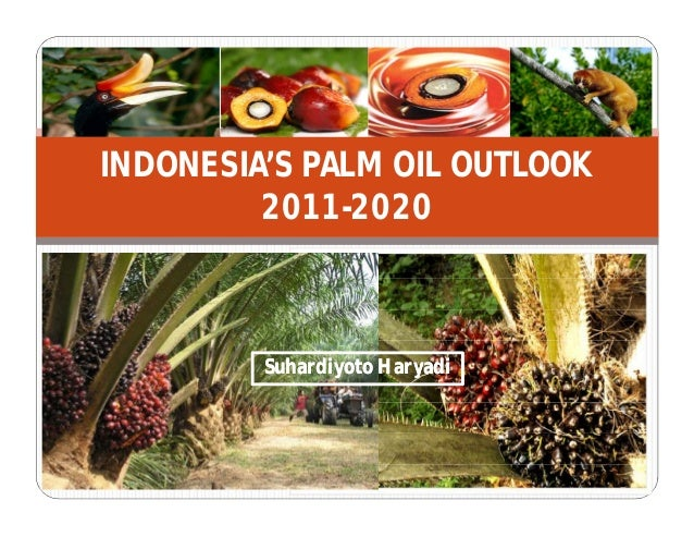 INDONESIA'S PALM OIL OUTLOOK 2011-2020 Suhardiyoto HaryadiSuhardiyoto Haryadi