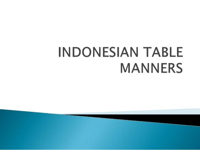 indonesia table manners