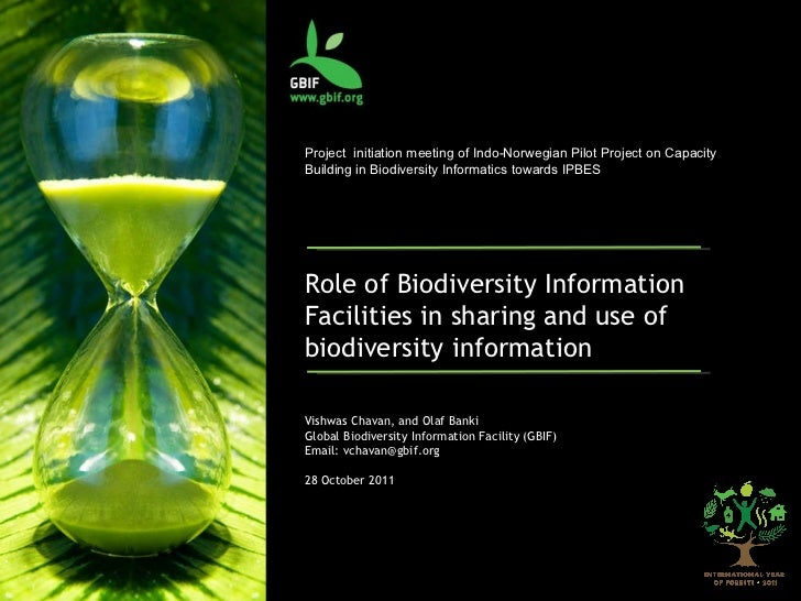 Project  initiation meeting of Indo-Norwegian Pilot Project on Capacity Building in Biodiversity Informatics towards IPBES...