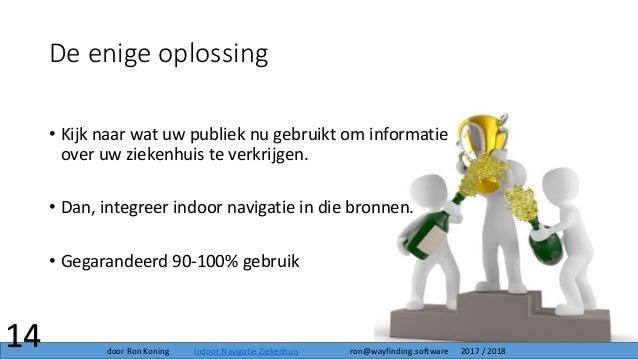 De enige oplossing • Kijk naar wat uw publiek nu gebruikt om informatie over uw ziekenhuis te verkrijgen. • Dan, integreer...