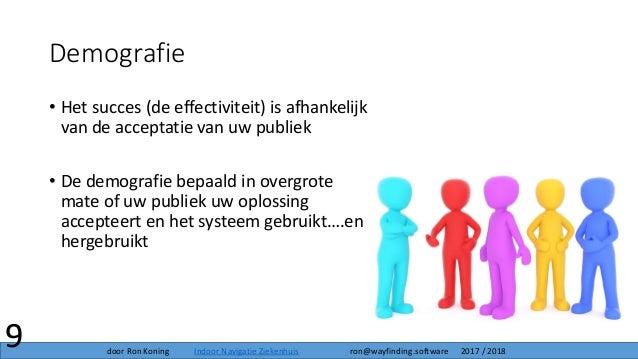 Demografie • Het succes (de effectiviteit) is afhankelijk van de acceptatie van uw publiek • De demografie bepaald in over...