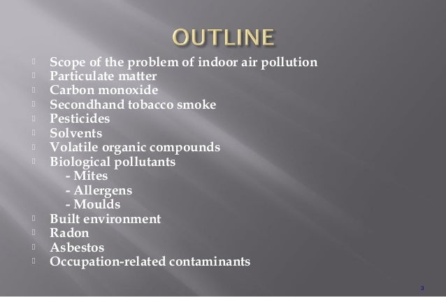 Indoor air pollution Slide 3