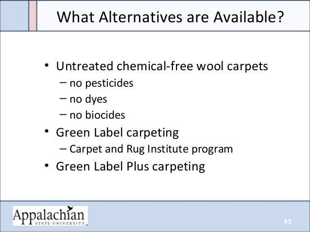 ... 43. 43 • Untreated chemical-free wool carpets ...