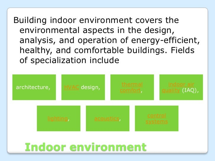 Indoor environmental quality of green building for Indoor air quality design