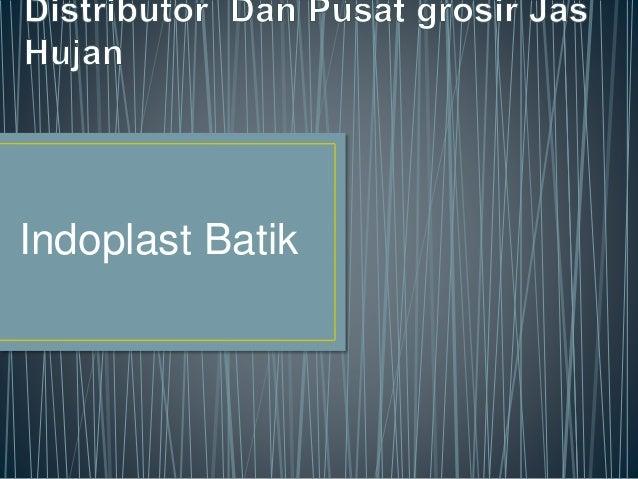 Indoplast Batik