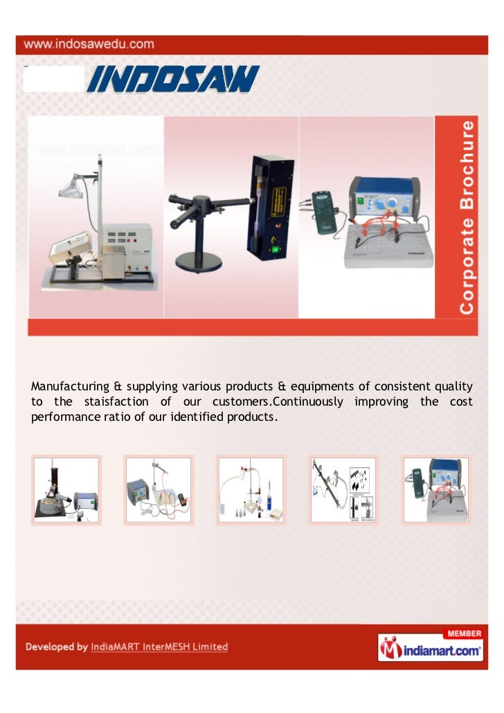 Manufacturing & supplying various products & equipments of consistent qualityto the staisfaction of our customers.Continuo...
