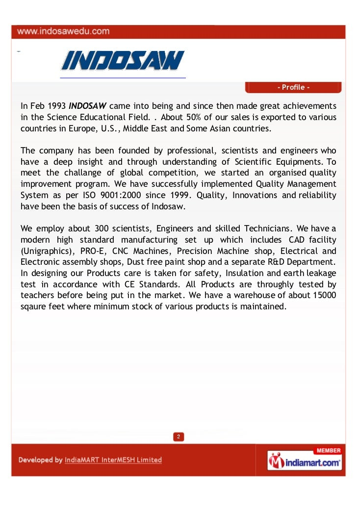 Osaw Industrial Products Pvt.ltd, Ambala, Identified Products Slide 2