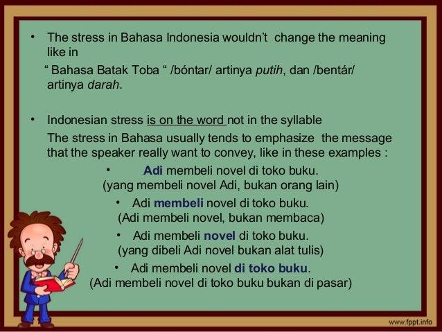 Terjemahan bahasa Inggris-bahasa Indonesia untuk