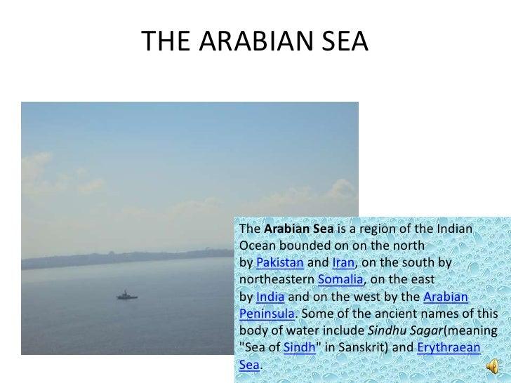 Indian Seas And Ocean - Names of oceans and seas