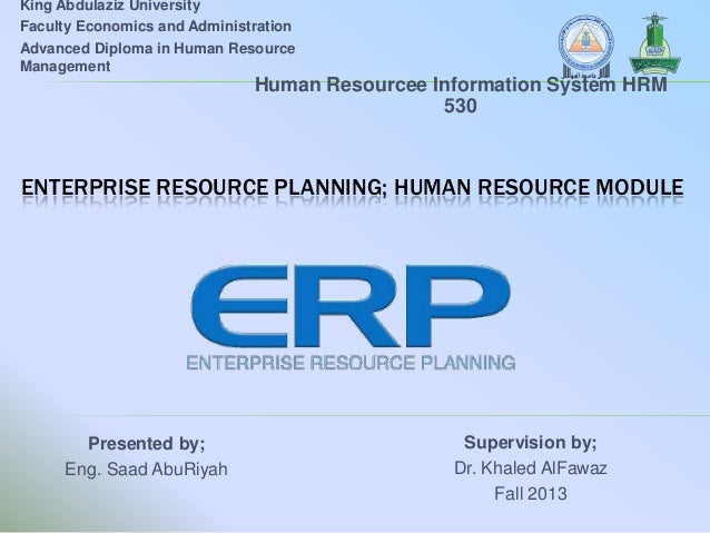 King Abdulaziz University Faculty Economics and Administration Advanced Diploma in Human Resource Management  Human Resour...