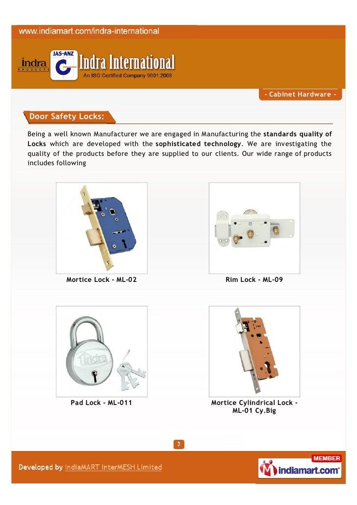 Indra International, Aligarh, Cabinet Hardware Slide 3