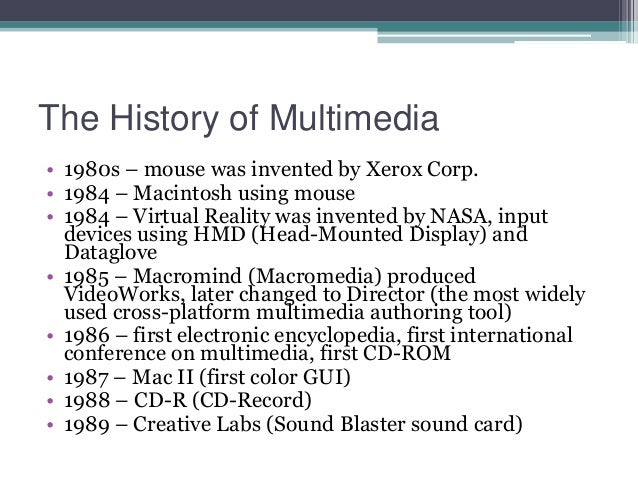 history of multimedia Multimedia art is a sophisticated art form that combines two or more of the following creative formats: drawing, painting, sculpture, audio, literature.
