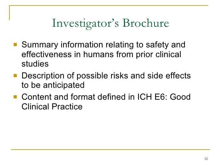 Investigatoru0027s Brochure ...