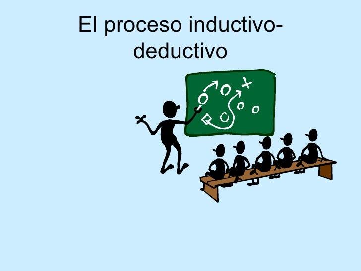 El proceso inductivo-deductivo