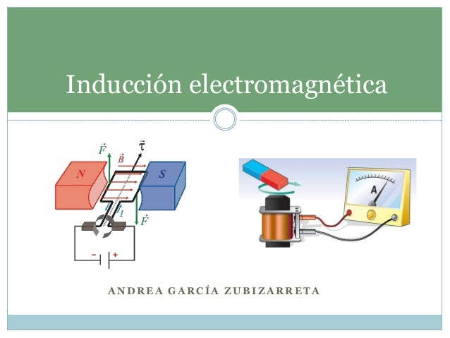 Inducción electromagnética   ANDREA GARCÍA ZUBIZARRETA