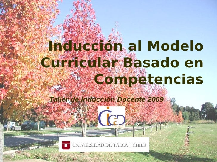 Inducción al Modelo Curricular Basado en        Competencias  Taller de Inducción Docente 2009