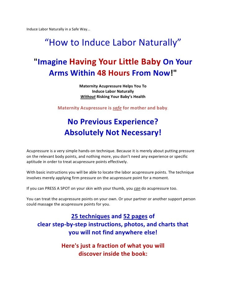 Natural Ways To Induce Labour At Home