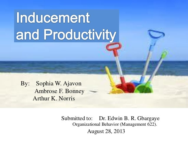 Submitted to: Dr. Edwin B. R. Gbargaye Organizational Behavior (Management 622). August 28, 2013 By: Sophia W. Ajavon Ambr...