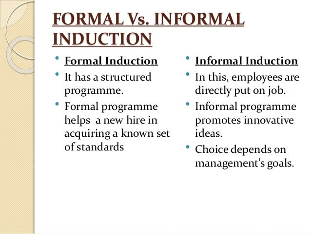 how to create an induction programme