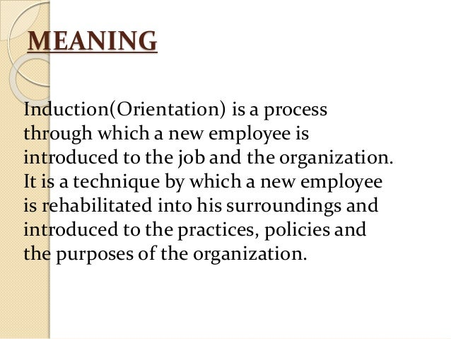induction process in hrm pdf