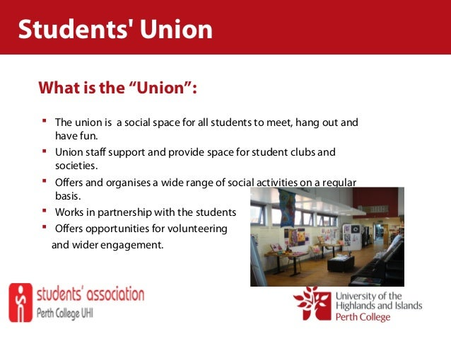 """What is the """"Union"""":  The union is a social space for all students to meet, hang out and have fun.  Union staff support ..."""