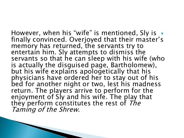 master servant relationship in taming of the shrew play
