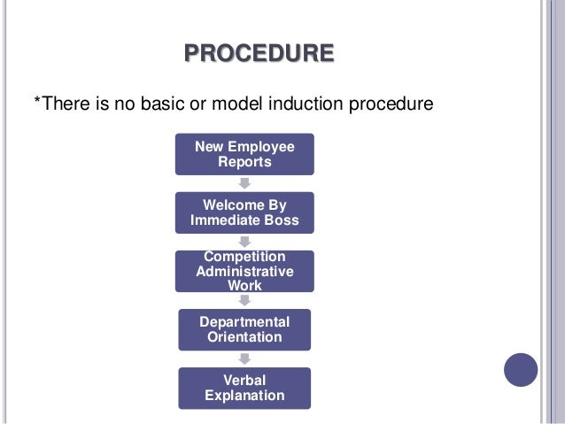 Induction and orientation for Induction procedure template