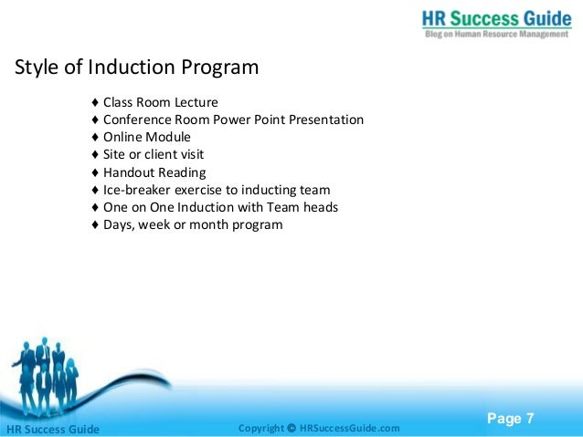 induction and orientation