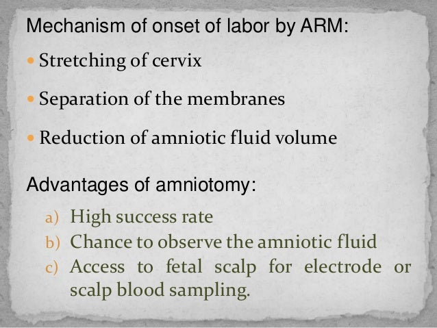 Induction, augmentation and trial of labor