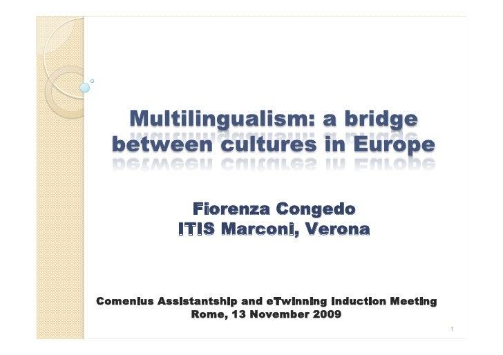 Fiorenza Congedo             ITIS Marconi, Verona    Comenius Assistantship and eTwinning Induction Meeting               ...