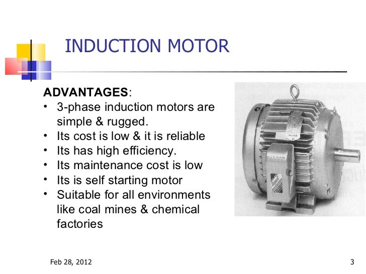 Induction motor construction for Advantages of ac motor