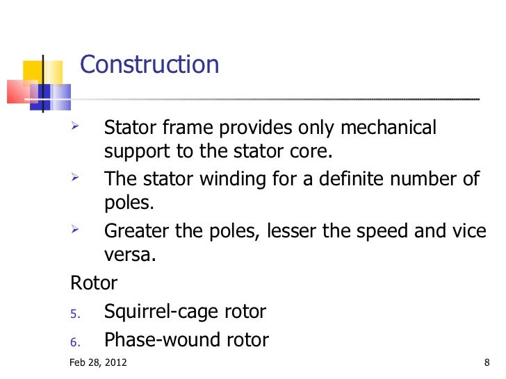 Induction Motor Construction 28 Images Induction Motor