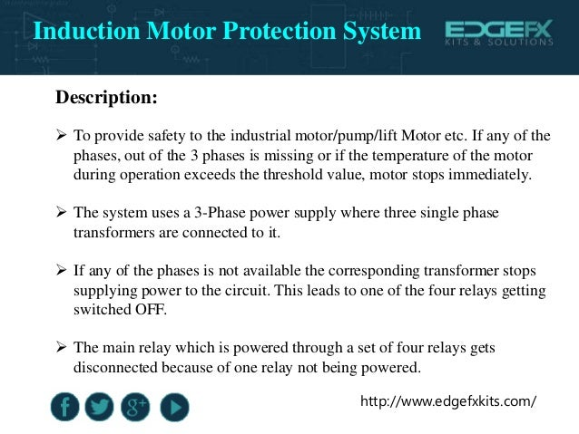 Induction motor protection system for Protection of 3 phase induction motor