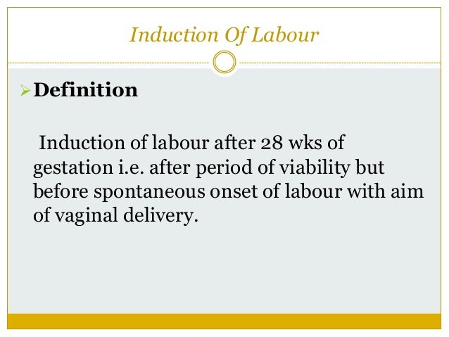 Induction of labour essay