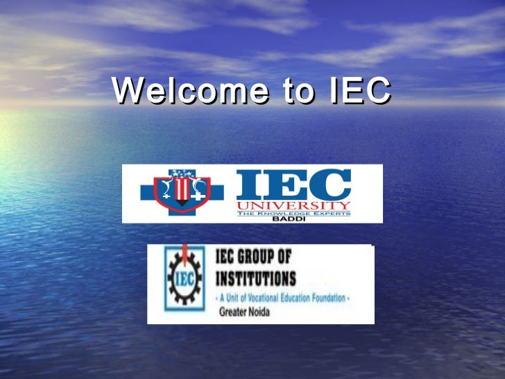 Welcome to IEC