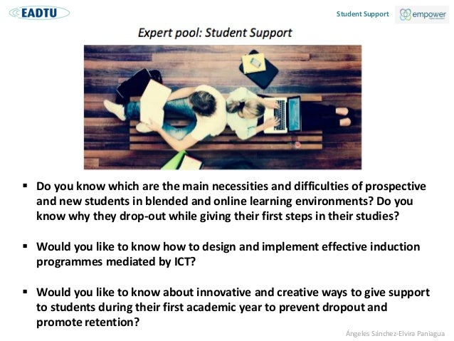 Institutional support for prospective and new students in online and distance education  Slide 2