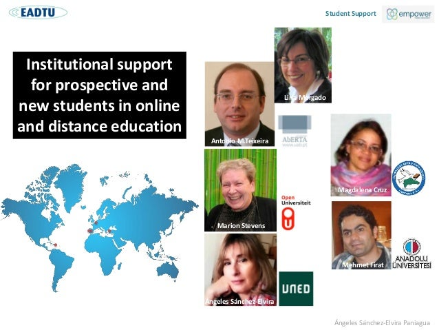 Institutional support for prospective and new students in online and distance education  Slide 3
