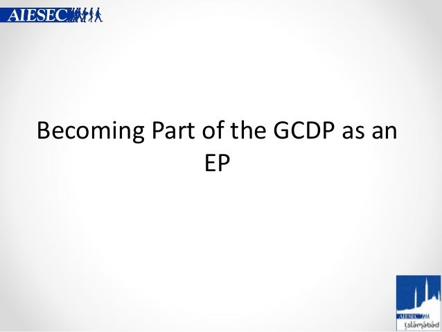 Becoming Part of the GCDP as an EP