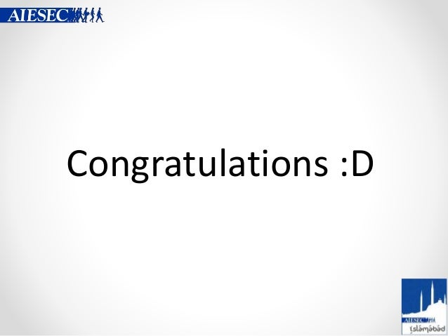 Congratulations :D