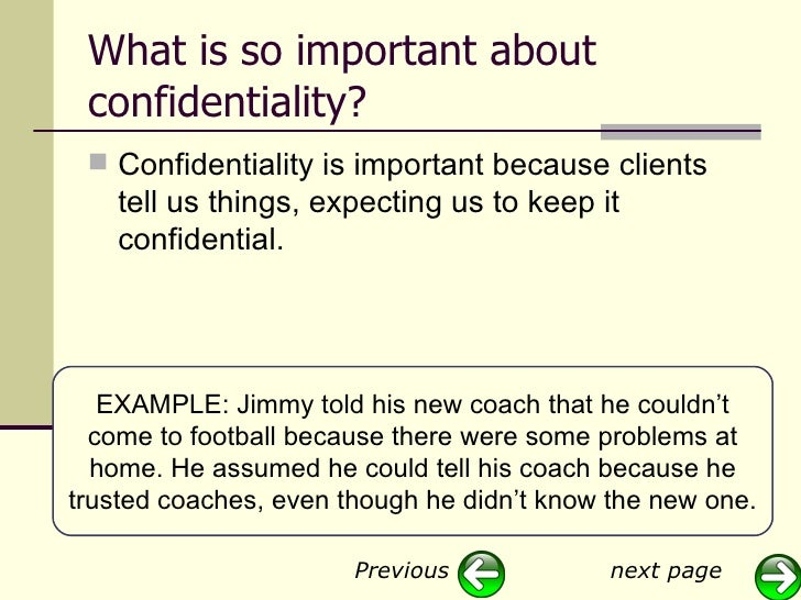 why is it important to keep client information confidential