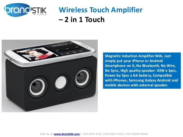 Wireless Touch Magnetic Induction Amplifier Speaker