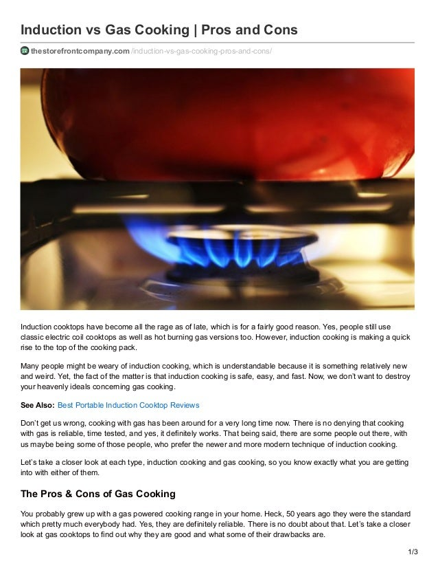Induction Vs Gas Cooking | Pros And Cons Thestorefrontcompany.com/induction Vs   ...